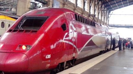 Un Thalys en gare du Nord - Crédit photo: Alimou Sow